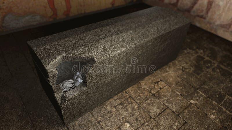 坟茔的埃及法老王妈咪 库存例证