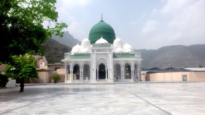 坟茔麦札尔寺庙Zinda毕尔Ghamghol shrif kohat巴基斯坦 免版税库存图片