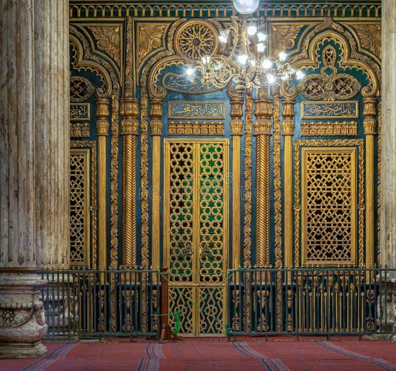 坟茔(寺庙)穆罕默德・阿里巴夏,开罗城堡 库存照片