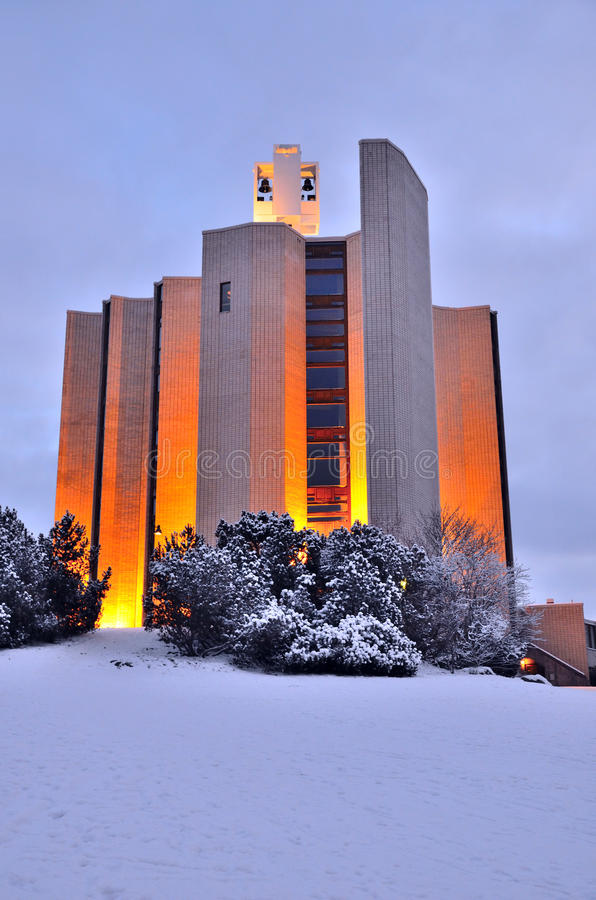 坦佩雷,芬兰。Kaleva教会 库存图片