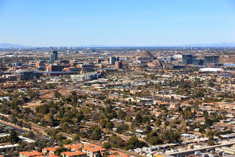 坦佩,亚利桑那生长地平线  免版税图库摄影