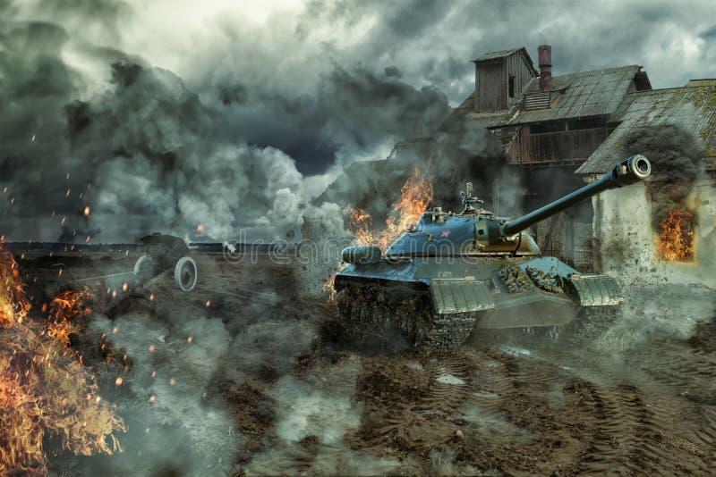 坦克争斗  库存例证