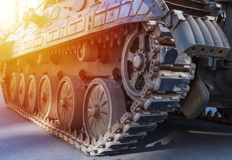 坦克关闭细节 陆军坦克细节  库存图片
