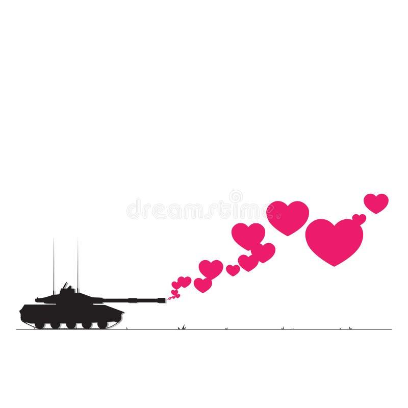 坦克和重点。 库存图片