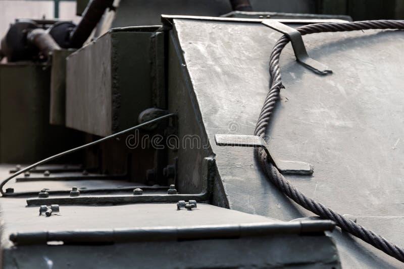 坦克正面图的细节 r 免版税库存照片