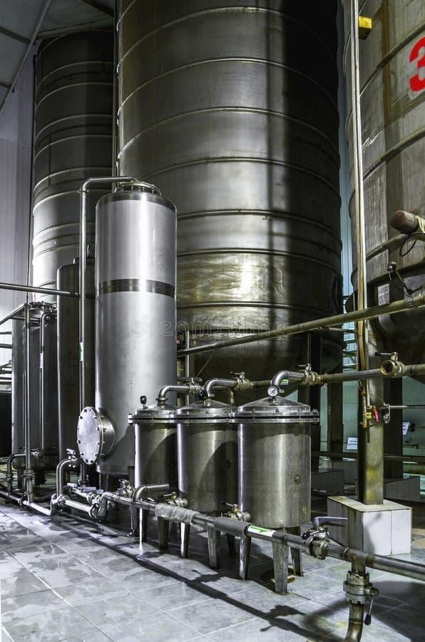 坦克设备 配药和化工业 在植物的制造 免版税库存图片