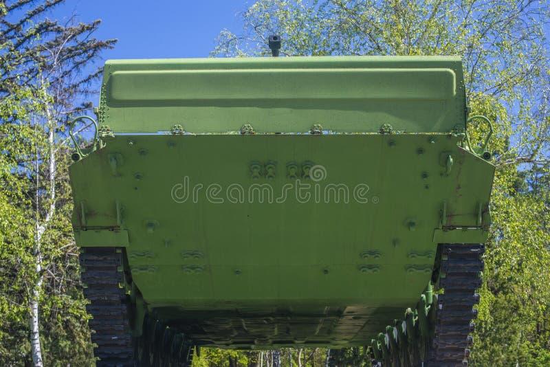 坦克67 AK 坦克的看法从下面 库存图片