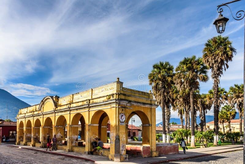 坦基de la Union,安提瓜岛,危地马拉 免版税图库摄影