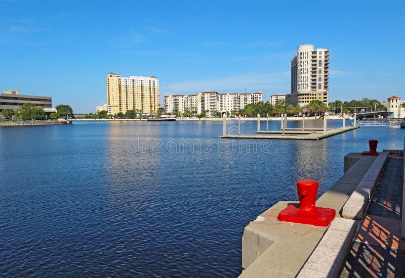 坦帕,佛罗里达部份地平线  免版税库存照片