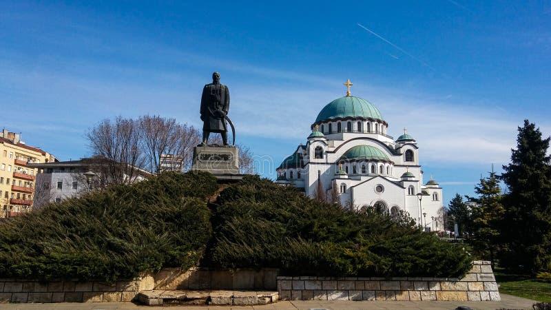 坦普尔西夫 萨瓦,贝尔格莱德,塞尔维亚 免版税库存照片