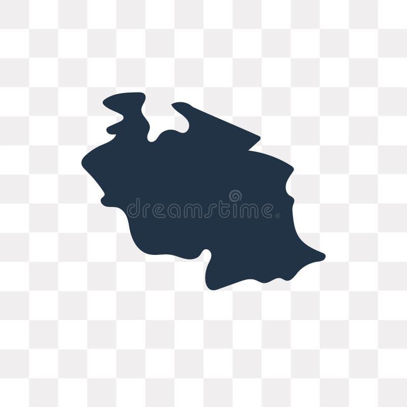 坦桑尼亚地图在透明背景隔绝的传染媒介象, Tan 皇族释放例证