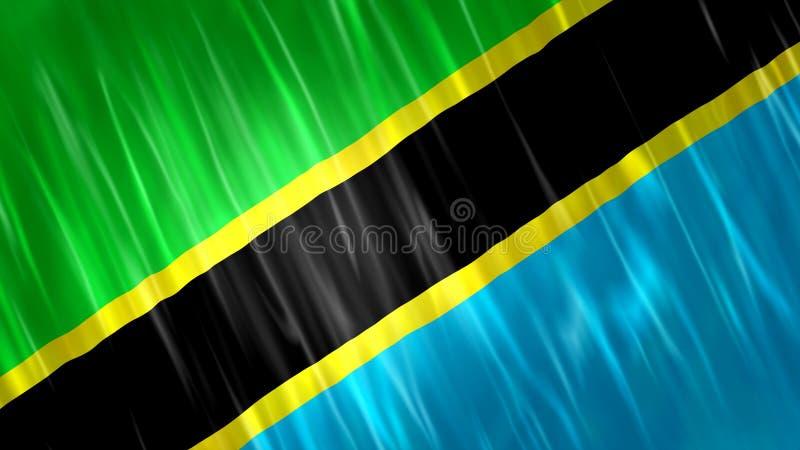 坦桑尼亚旗子 皇族释放例证