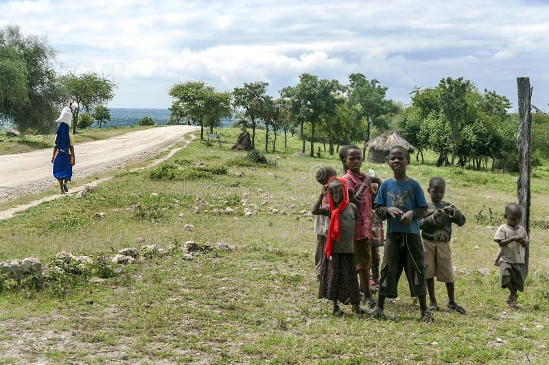 坦桑尼亚的男孩 库存图片