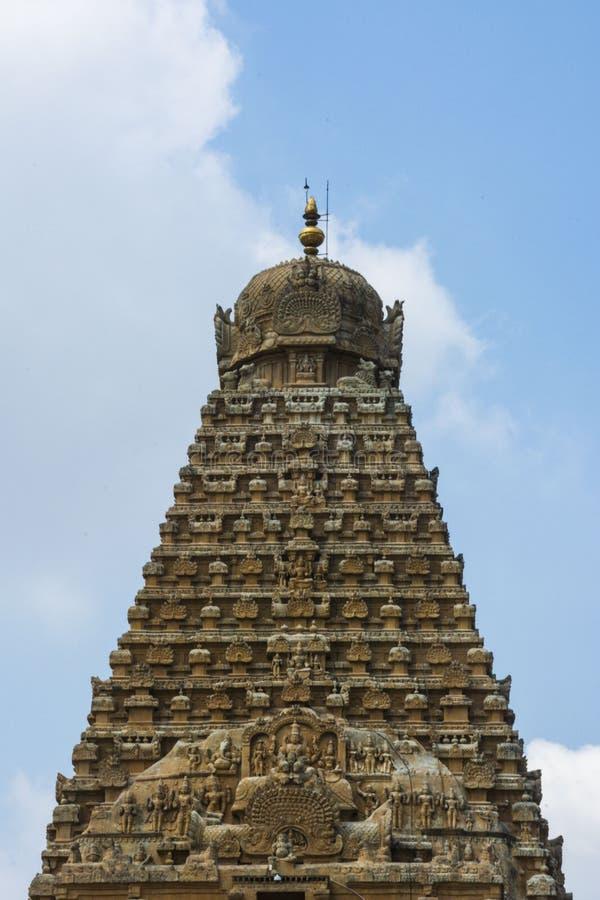 坦贾武尔大寺庙前面接近的看法在好日子 库存图片