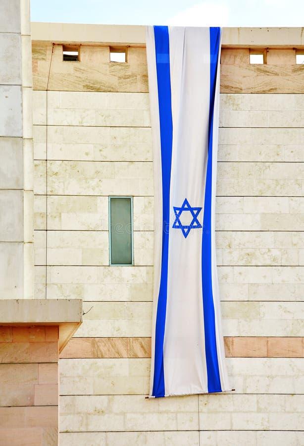 垂悬为美国独立日的以色列旗子 库存图片