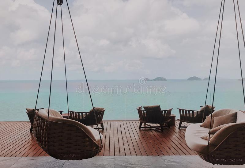 垂悬在酸值苏梅岛,泰国 免版税库存图片