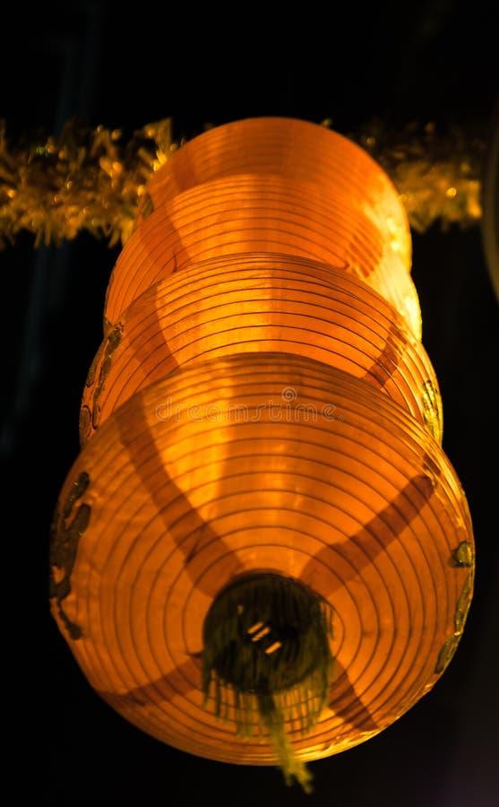 垂悬在香港的灯笼 库存照片