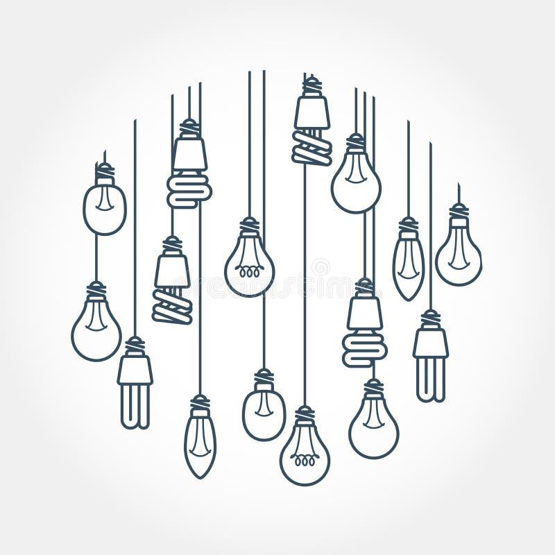 垂悬在绳子的电灯泡圈子图片