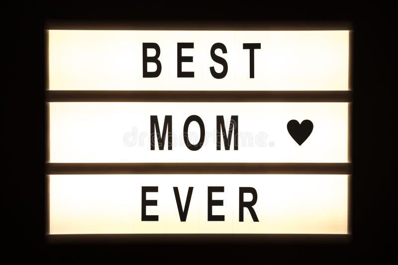 垂悬灯箱的最佳的妈妈 库存图片