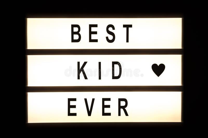 垂悬灯箱的最佳的孩子 免版税图库摄影