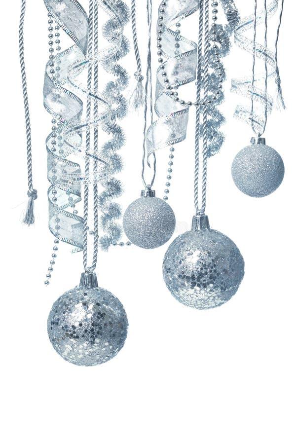 垂悬的圣诞节装饰 免版税库存图片