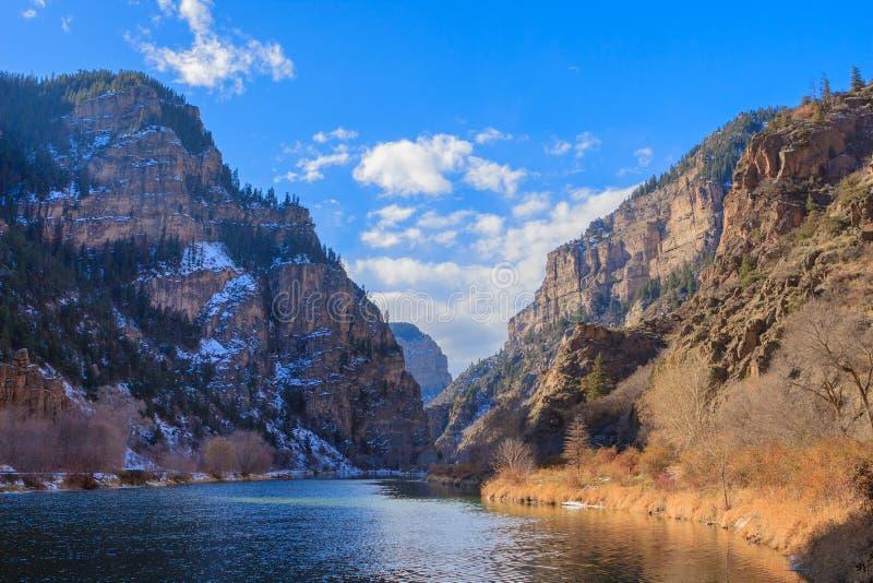 垂悬的湖足迹 图库摄影