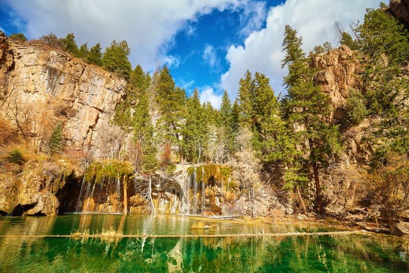 垂悬的湖, Glenwood峡谷,科罗拉多,美国 免版税库存照片