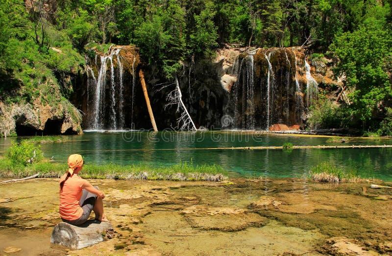 垂悬的湖, Glenwood峡谷,科罗拉多 库存照片