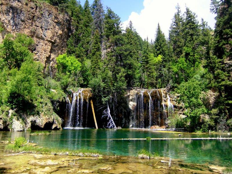 垂悬的湖, Glenwood峡谷,科罗拉多 免版税库存图片