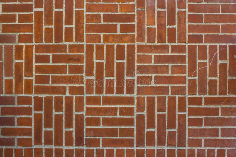 垂直和水平的砖砌纹理  砖墙 免版税库存照片