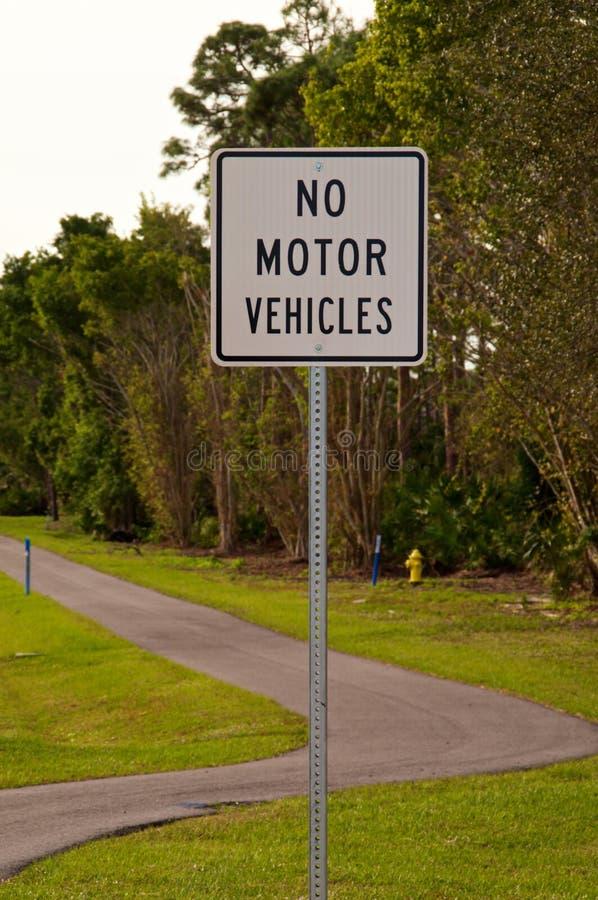 垂直机动车不签字 免版税库存照片