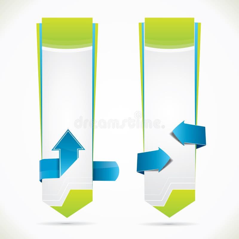 垂直的万维网样式编辑可能的横幅 库存例证