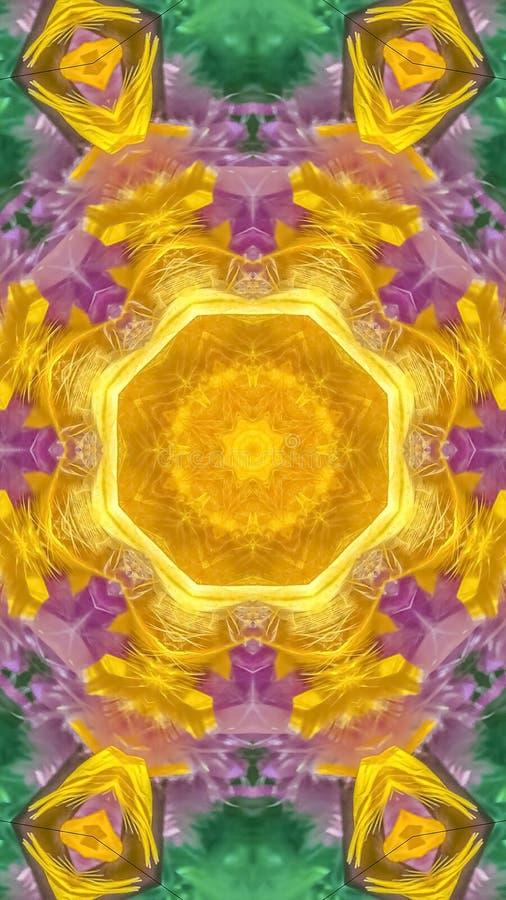 垂直的充满活力的蓝色紫色和黄色羽毛时尚 向量例证