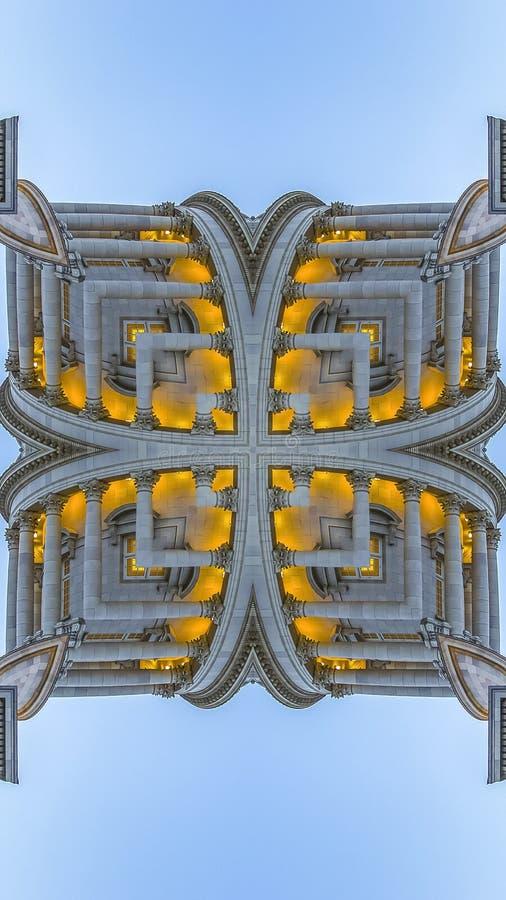 垂直的分数维方形的形状由犹他首都做了 库存例证