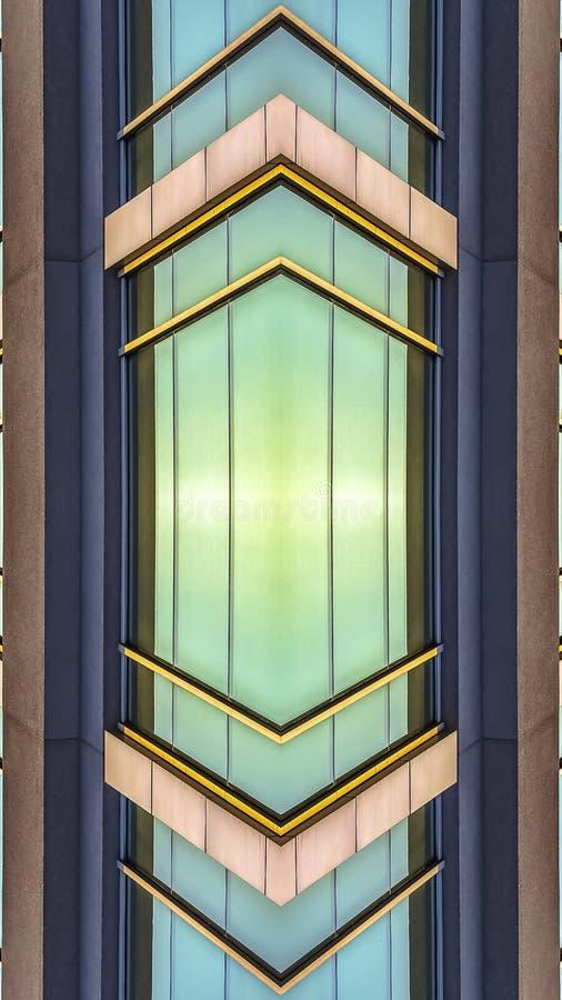 垂直的办公楼的框架发光的外部窗口 向量例证