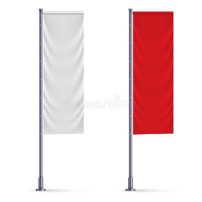 垂直的旗子大模型 皇族释放例证