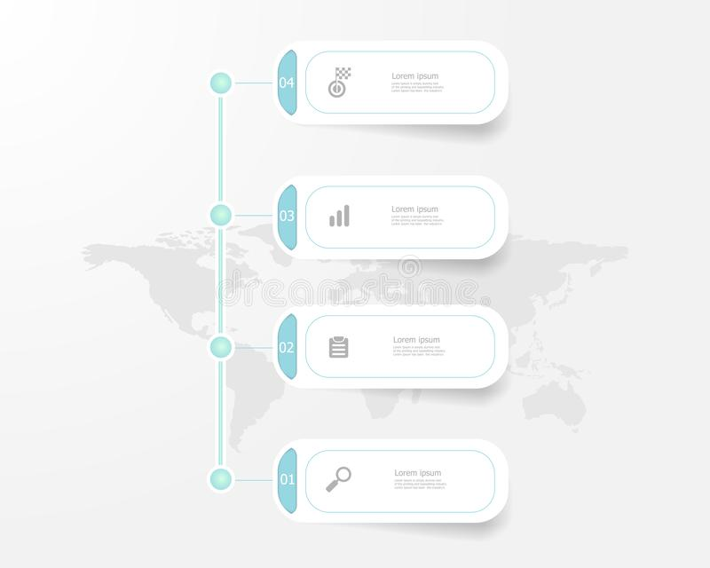 垂直的时间安排infographics 4步 向量例证
