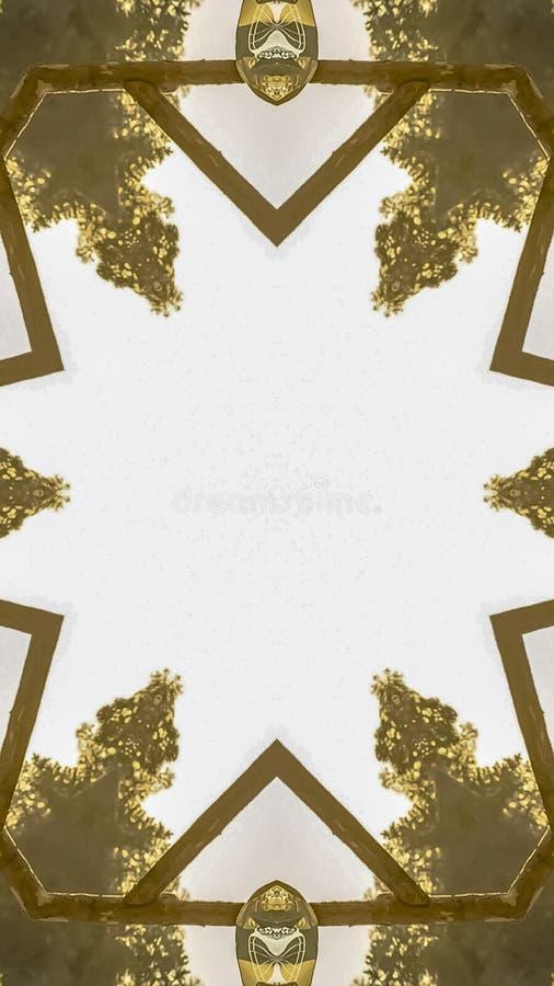 垂直的框架婚姻的装饰把变成设计元素 皇族释放例证