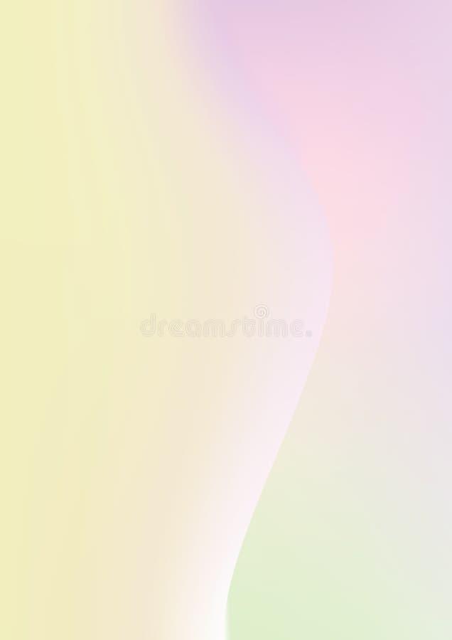 垂直的梯度紫色,绿色和黄色混杂,颜色tendy pa 向量例证