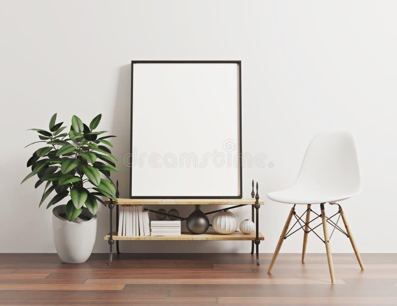 垂直的画象海报样式空白的大模型 皇族释放例证