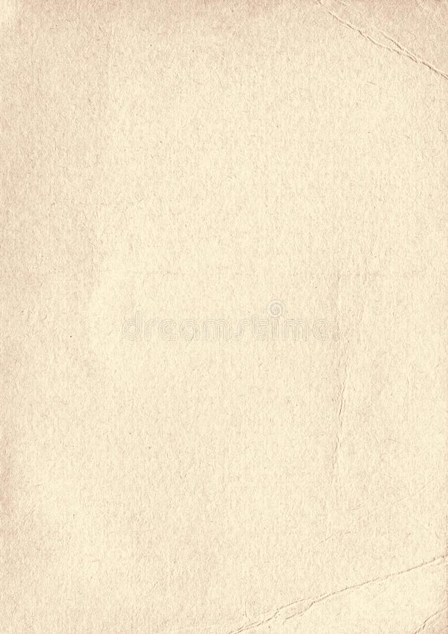 垂直的米黄难看的东西老纹理纸背景 库存例证