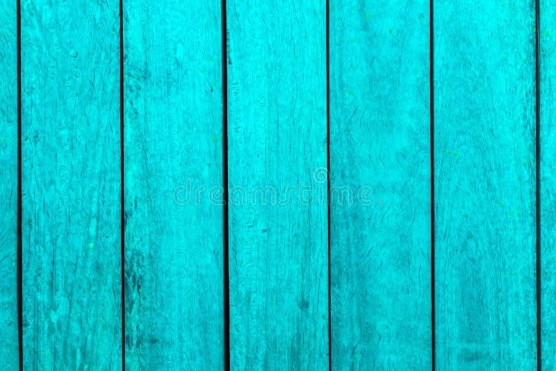 垂直绿松石木条纹理背景 图库摄影