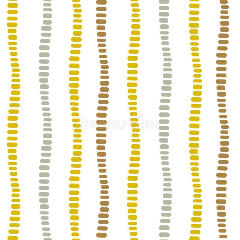 垂直被加点的装饰条纹无缝的传染媒介样式 库存例证