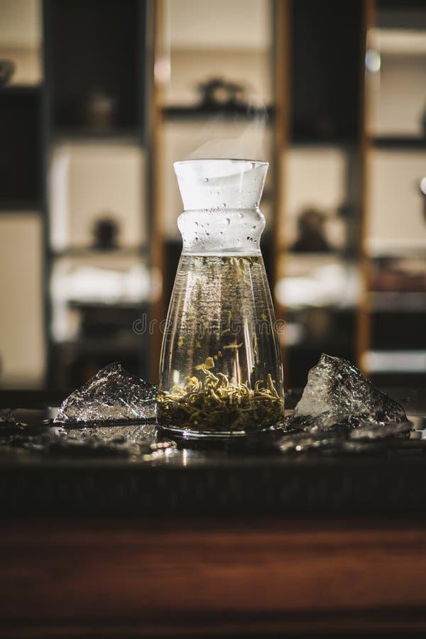 垂直酿造茶 库存图片