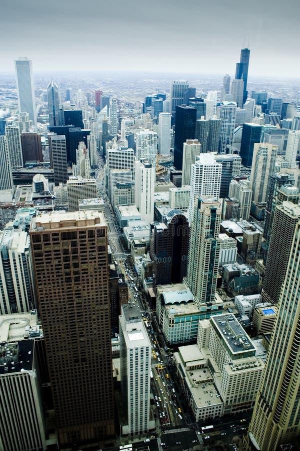 垂直92个芝加哥街市的故事 库存图片