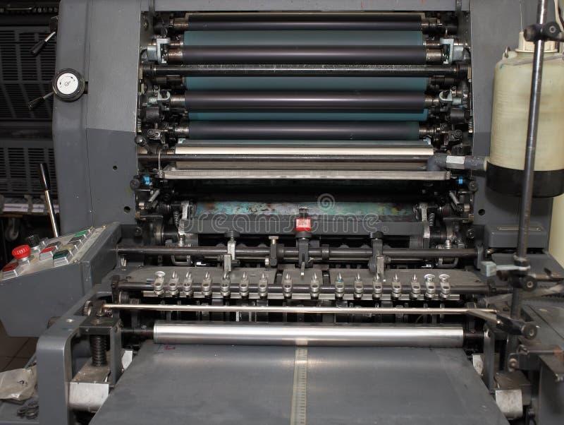 垂距重的打印机作为工业背景 库存照片