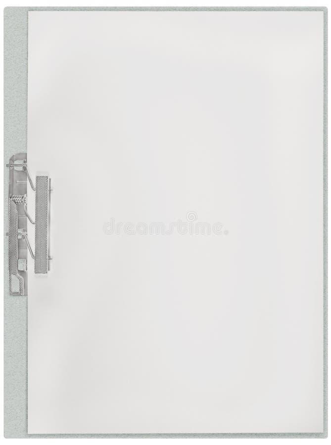 垂直的剪贴板,空白倒空被隔绝的白皮书存档元件空间板料纹理背景,大详细的特写镜头 图库摄影