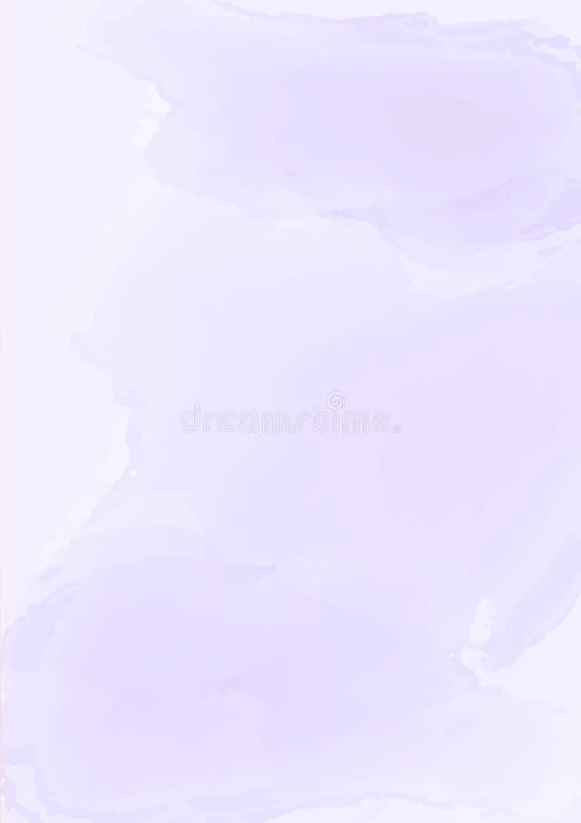 垂直的抽象淡色紫色水彩纸背景 向量例证