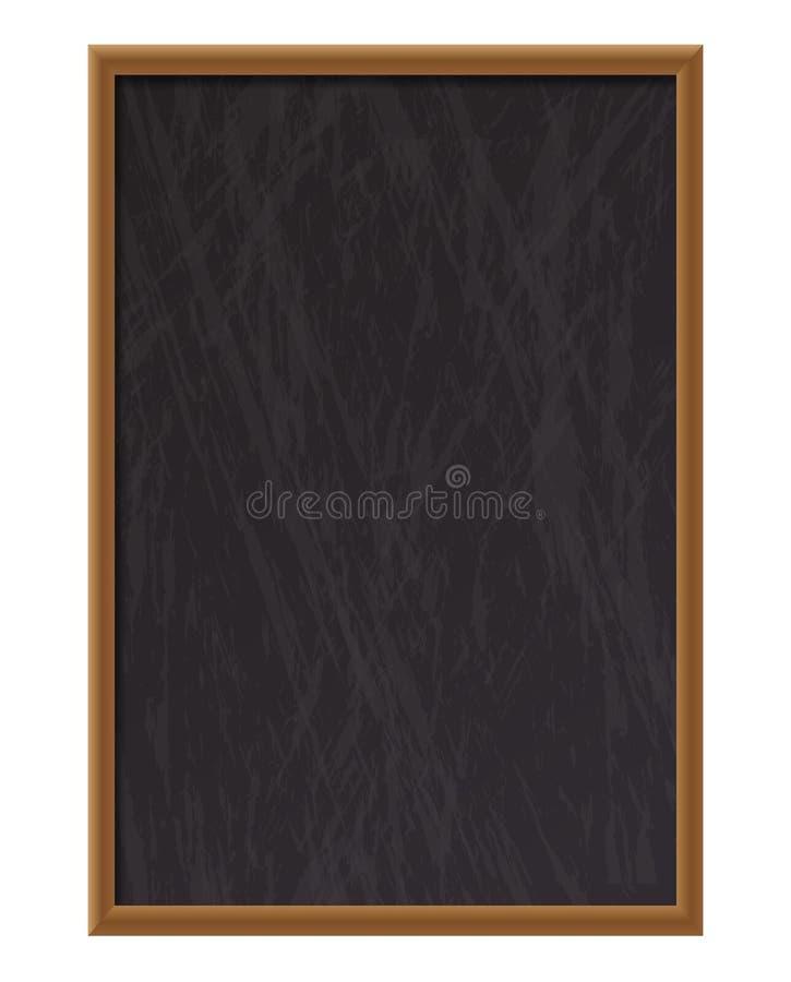 垂直的空的木粉笔板 皇族释放例证