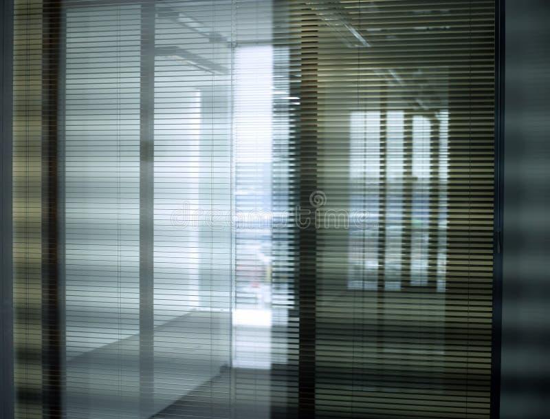 办公室窗帘 库存图片